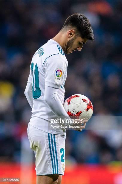 Marco Asensio of Real Madrid in action during La Copa del Rey 201718 match between Real Madrid vs CD Leganes at Estadio Santiago Bernabeu on 24...