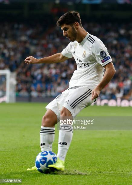 OCTOBER 2018 Marco Asensio of Real Madrid in action during the Group G match of the UEFA Champions League between Real Madrid and Viktoria Plzen at...