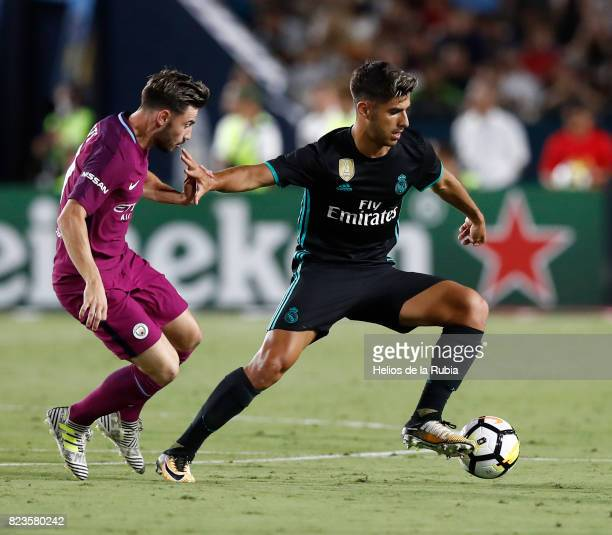 Marco Asensio of Real Madrid in action during the International Champions Cup 2017 match between Manchester City v Real Madrid at Memorial Coliseum...