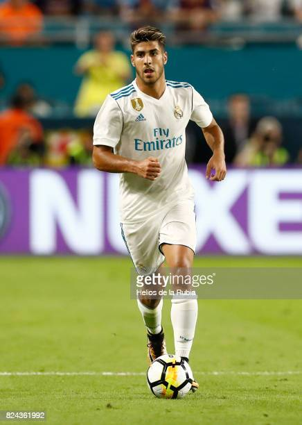Marco Asensio of Real Madrid in action during the International Champions Cup 2017 match between Real Madrid CF and FC Barcelona at Hard Rock Stadium...