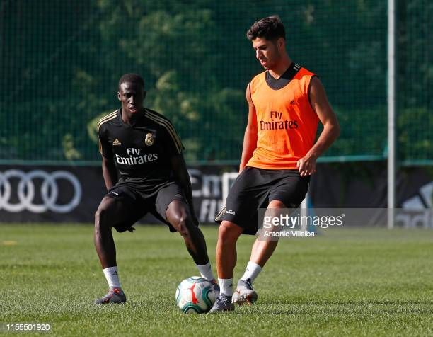 Marco Asensio of Real Madrid kicks the ball during the preseason in Montreal on July 13 2019 in Montreal Canada