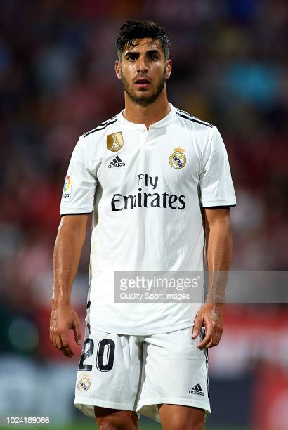Marco Asensio of Real Madrid looks on during the La Liga match between Girona FC and Real Madrid CF at Montilivi Stadium on August 26 2018 in Girona...