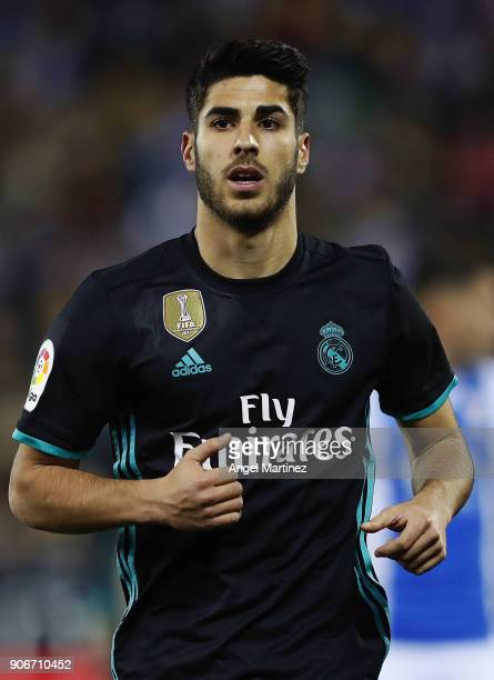 Marco Asensio of Real Madrid looks on during the Spanish Copa del Rey Quarter Final First Leg match between Leganes and Real Madrid at Estadio...