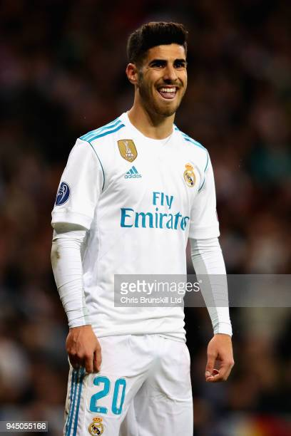Marco Asensio of Real Madrid looks on during the UEFA Champions League Quarter Final second leg match between Real Madrid and Juventus at Estadio...
