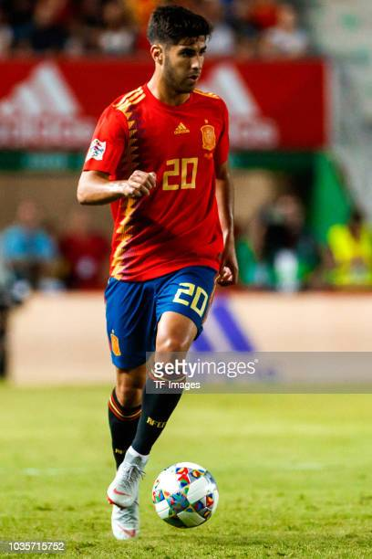 Marco Asensio of Spain controls the ball during the UEFA Nations League A group four match between Spain and Croatia at Estadio Manuel Martinez...