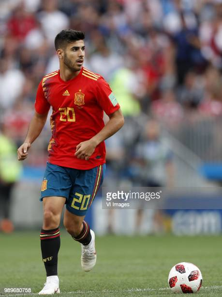 Marco Asensio of Spain during the 2018 FIFA World Cup Russia round of 16 match between Spain and Russia at the Luzhniki Stadium on July 01 2018 in...