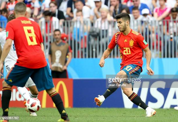 Marco Asensio of Spain during the 2018 FIFA World Cup Russia Round of 16 match between Spain and Russia at Luzhniki Stadium on July 1 2018 in Moscow...