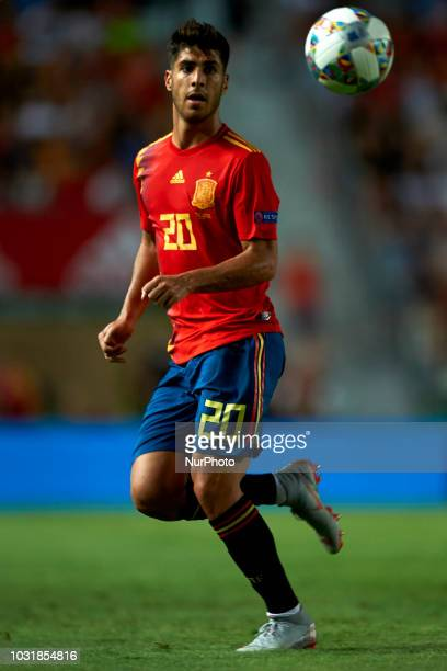 Marco Asensio of Spain during the UEFA Nations League football match between Spain and Croatia at Martinez Valero Stadium in Elche Spain on September...