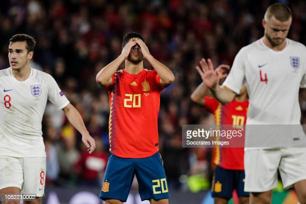 Marco Asensio of Spain during the UEFA Nations league match between Spain v England at the Estadio Benito Villamarin on October 15 2018 in Sevilla...
