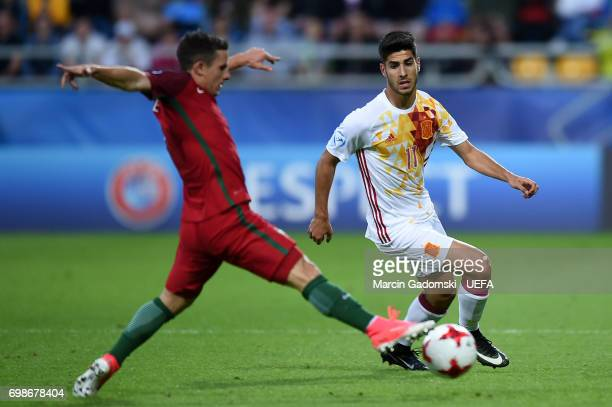 Marco Asensio of Spain during their UEFA European Under21 Championship match against Portugal on June 20 2017 in Gdynia Poland