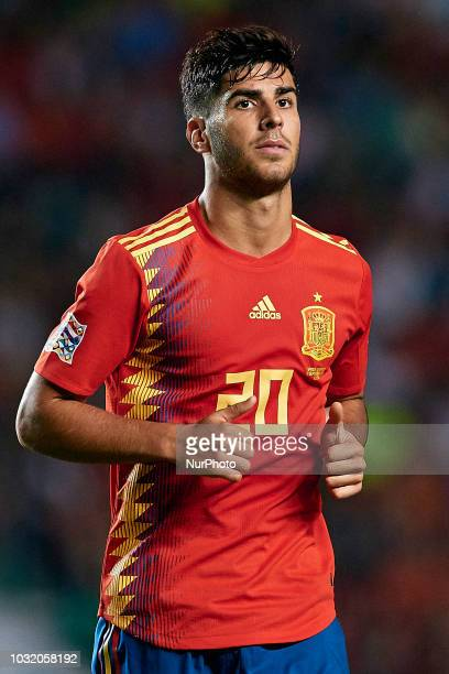 Marco Asensio of Spain looks on during the UEFA Nations League A group four match between Spain and Croatia at Manuel Martinez Valero on September 11...