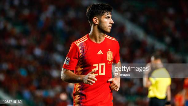 Marco Asensio of Spain looks on during the UEFA Nations League A group four match between Spain and Croatia at Estadio Manuel Martinez Valero on...