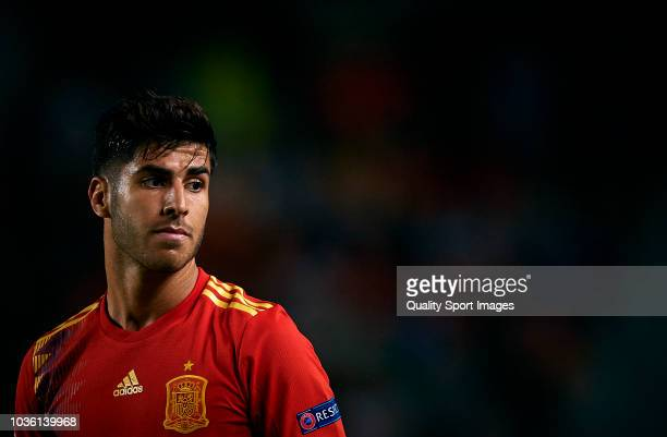 Marco Asensio of Spain looks on during the UEFA Nations League A group four match between Spain and Croatia on September 11 2018 in Alicante Spain
