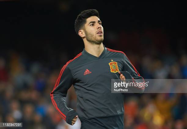 Marco Asensio of Spain national team during the European Qualifying round Group F match between Spain and Norway at Estadio de Mestalla on March 23...