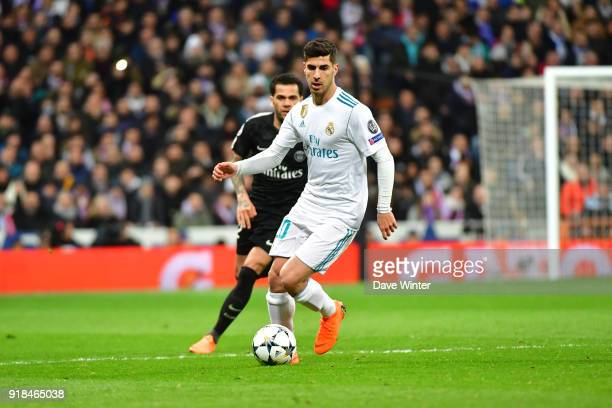 Marco Asensio Willemsen of Real Madrid during the Champions League match between Real Madrid and Paris Saint Germain at Estadio Santiago Bernabeu on...