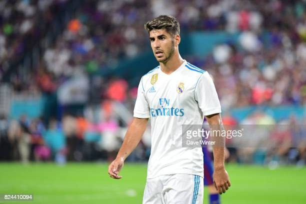 Marco Asensio Willemsen of Real Madrid during the International Champions Cup match between Barcelona and Real Madrid at Hard Rock Stadium on July 29...