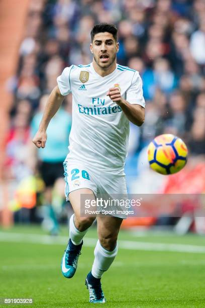 Marco Asensio Willemsen of Real Madrid in action during the La Liga 201718 match between Real Madrid and Sevilla FC at Santiago Bernabeu Stadium on...