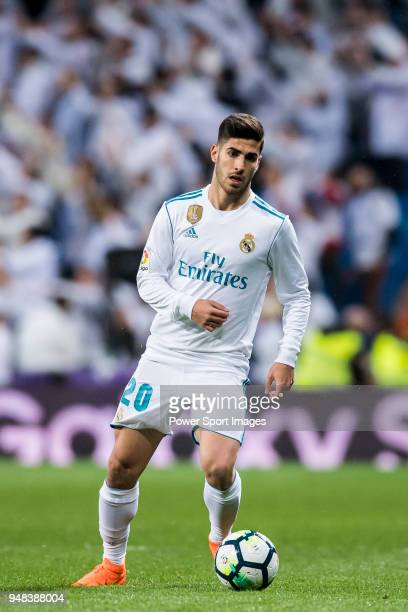 Marco Asensio Willemsen of Real Madrid in action during the La Liga match between Real Madrid and Getafe at Estadio Santiago Bernabeu on March 3 2018...