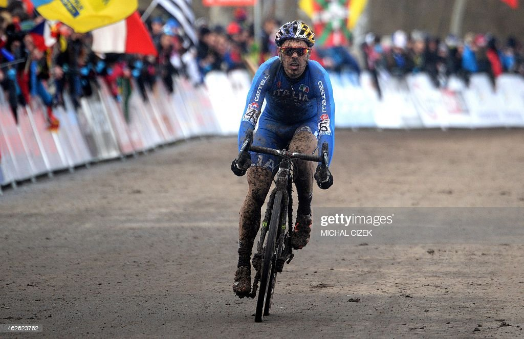 Marco Aurelio Fontana of Italy crosses a finish line during the Men ...