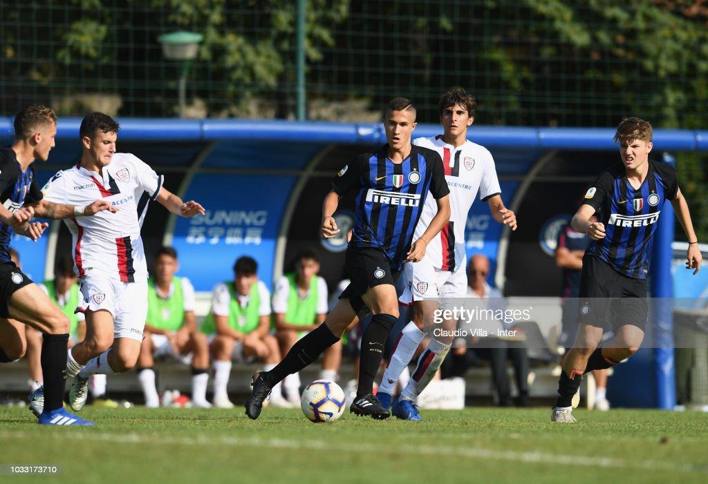Marco Ballabio of FC Internazionale in action during Fc internazionale U19 V Cagliari U19 match at Stadio Breda on September 14, 2018 in Sesto San Giovanni, Italy.