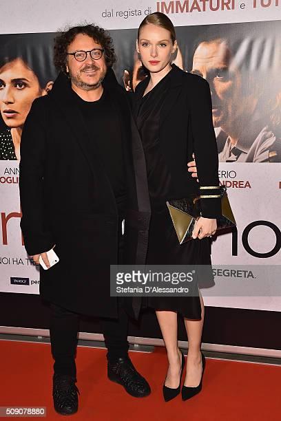 Marco Belardi and Caterina Shulha attend 'Perfetti Sconosciuti' Premiere held at Odeon Cinema on February 8 2016 in Milan Italy