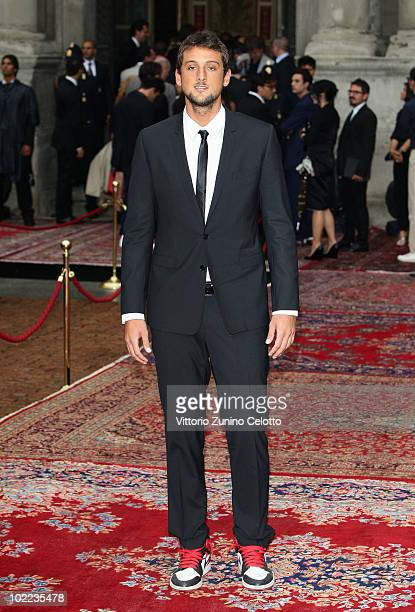 Marco Belinelli attend the Dolce Gabbana '20 Years of Menswear' during Milan Fashion Week Spring/Summer 2011 on June 19 2010 in Milan Italy