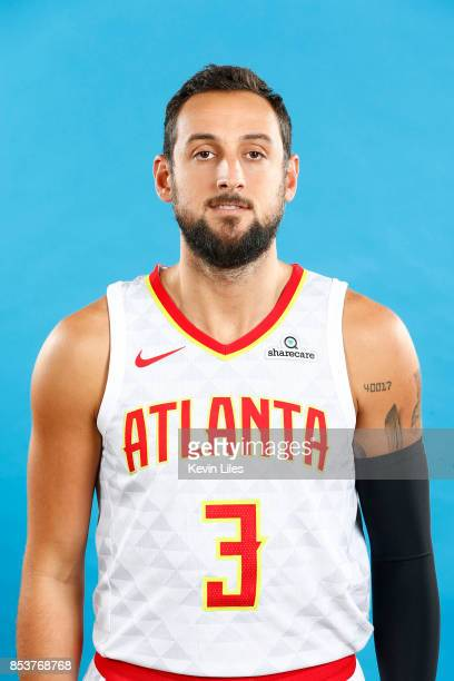 Marco Belinelli of the Atlanta Hawks poses for a head shot during Media Day on September 25 2017 at Four Season Hotel in Atlanta Georgia NOTE TO USER...
