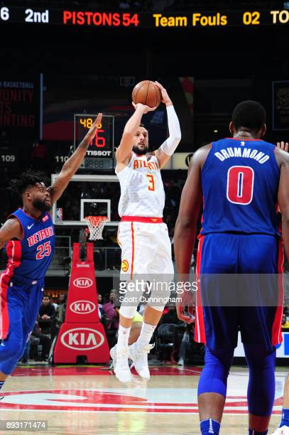 Marco Belinelli of the Atlanta Hawks shoots the ball against the Detroit Pistons on December 14 2017 at Philips Arena in Atlanta Georgia NOTE TO USER...