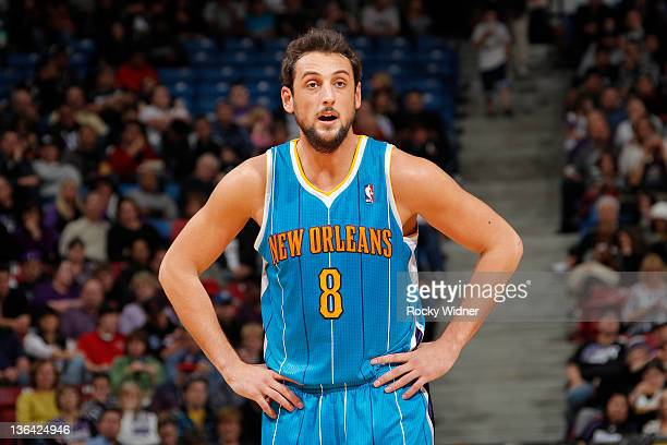 5e14c8a19 Marco Belinelli of the New Orleans Hornets during a game against the  Sacramento Kings at Power