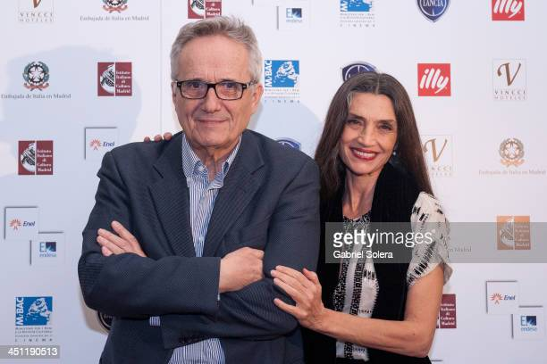 Marco Bellocchio and Angela Molina attend Italian Cinema festival 2013 at Instituto Italiano de Cultura on November 21 2013 in Madrid Spain