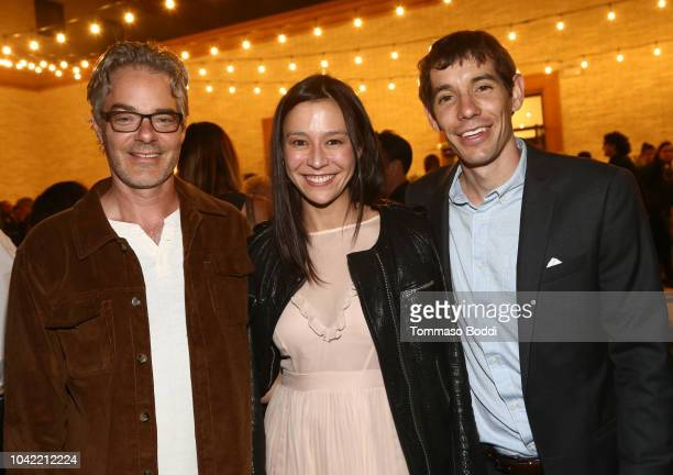 Marco Beltrami Elizabeth Chai Vasarhely and Alex Honnold attend the LA Film Festival gala screening of National Geographic Documentary Films Free...