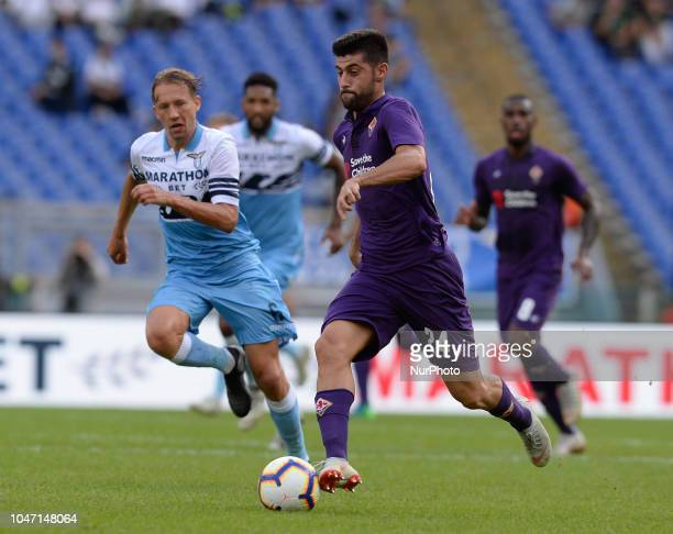 Marco Benassi during the Italian Serie A football match between SS Lazio and Fiorentina at the Olympic Stadium in Rome on october 07 2018