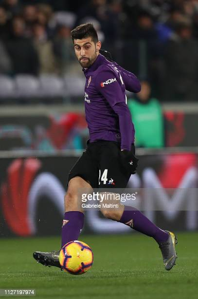 Marco Benassi of ACF Fiorentina in action during the Serie A match between ACF Fiorentina and FC Internazionale at Stadio Artemio Franchi on February...