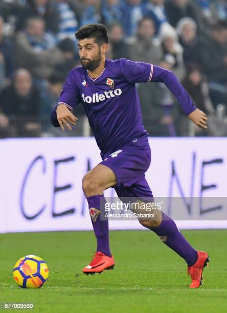 Marco Benassi of ACF Fiorentina in action during the Serie A match between Spal and ACF Fiorentina at Stadio Paolo Mazza on November 19 2017 in...