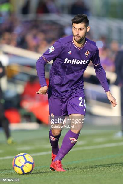 Marco Benassi of ACF Fiorentina in action during the Serie A match between ACF Fiorentina and US Sassuolo at Stadio Artemio Franchi on December 3...