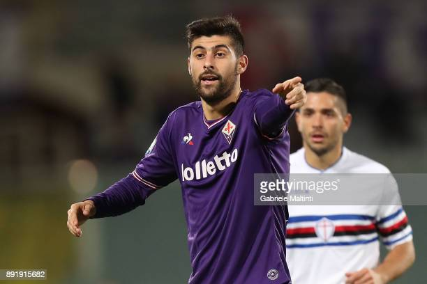 Marco Benassi of ACF Fiorentina in action during the Tim Cup match between ACF Fiorentina and UC Sampdoria at Stadio Artemio Franchi on December 13...