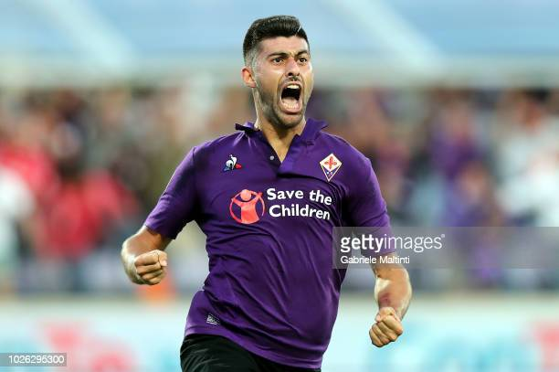 Marco Benassi of ACF Fiorentina reacts during the serie A match between ACF Fiorentina and Udinese at Stadio Artemio Franchi on September 2 2018 in...
