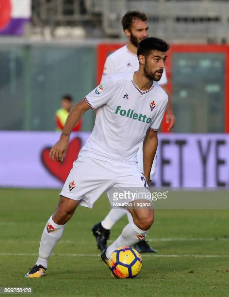 Marco Benassi of Fiorentina during the Serie A match between FC Crotone and ACF Fiorentina at Stadio Comunale Ezio Scida on October 29 2017 in...