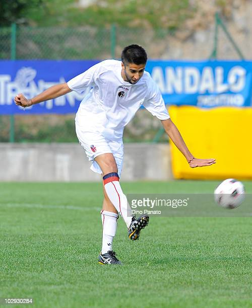 Marco Bernacci of Bologna in action during pre season friendly match betwen Bologna and Molveno on July 15, 2010 in Andalo Valtellino, Italy.