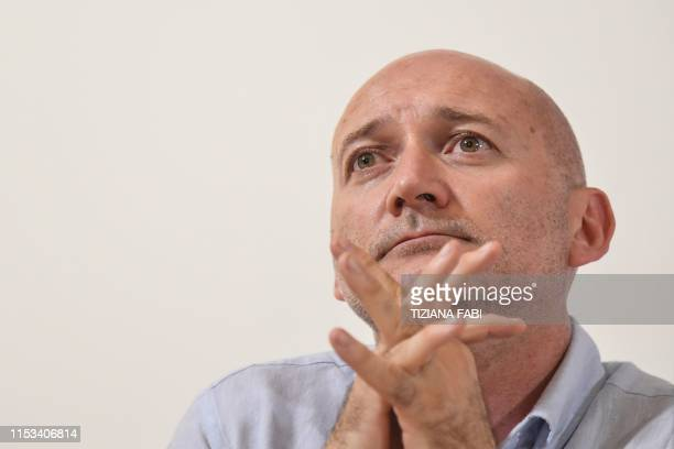 Marco Bertotto attends a joint press conference of humanitarian NGOs Sea Watch Doctors Without Borders Open Arms and Tavolo Asilo on July 3 2019 at...