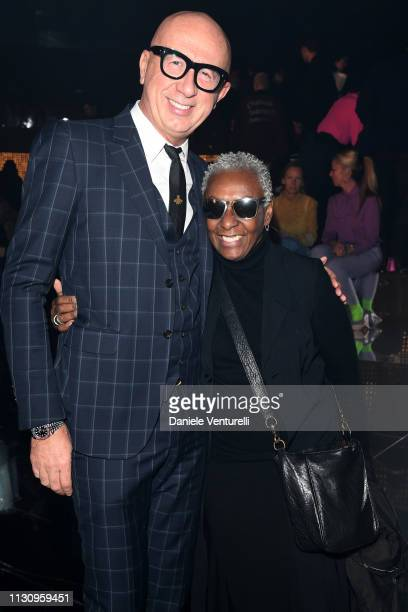 Marco Bizzarri and Bethann and Hardison attend the Gucci show during Milan Fashion Week Autumn/Winter 2019/20 on February 20 2019 in Milan Italy