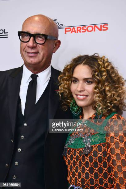 Marco Bizzarri and Cleo Wade attend The 70th Annual Parsons Benefit at Pier Sixty at Chelsea Piers on May 21 2018 in New York City