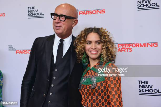 Marco Bizzarri and Cleo Wade attend the 70th Annual Parsons Benefit Pier Sixty at Chelsea Piers on May 21 2018 in New York City