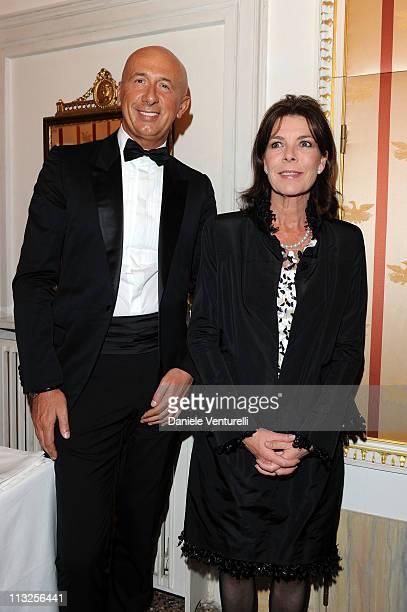 Marco Bizzarri Ceo of Bottega Veneta and princess Caroline of Hanover attend the Le Ballets de MonteCarlo 'Cendrillion' Gala Evening Bottega Veneta...