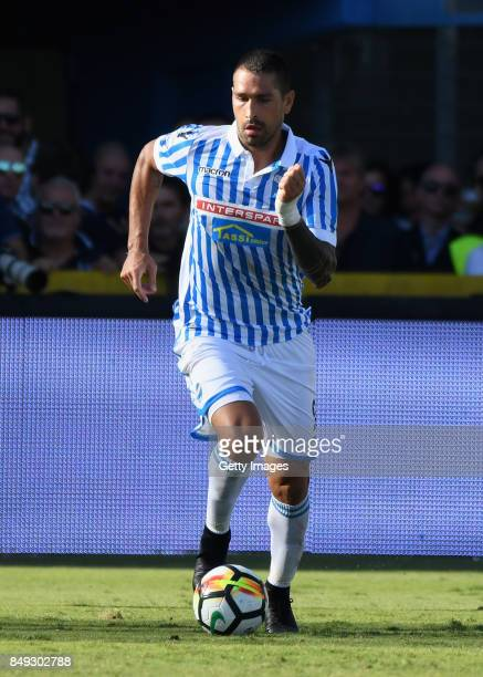 Marco Boriello of Spal in action during the Serie A match between Spal and Cagliari Calcio at Stadio Paolo Mazza on September 17 2017 in Ferrara Italy