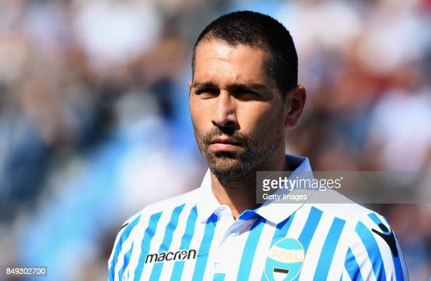 Marco Boriello of Spal looks on before the Serie A match between Spal and Cagliari Calcio at Stadio Paolo Mazza on September 17 2017 in Ferrara Italy