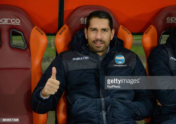 Marco Borriello during the Italian Serie A football match between AS Roma and Spal at the Olympic Stadium in Rome on december 01 2017