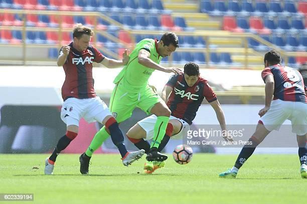 BOLOGNA ITALY SEPTEMBER Marco Borriello of Caglari Caclio in action during the Serie a match between Bologna FC and Cagliari Calcio at Stadio Renato...