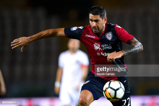 Marco Borriello of Cagliari Calcio in action during the TIM Cup football match between Cagliari Calcio and US Citta di Palermo Cagliari Calcio wins...