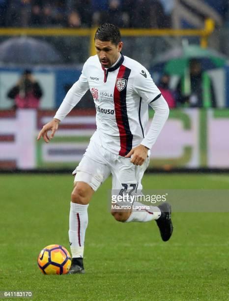 Marco Borriello of Cagliari during the Serie A match between Atalanta BC and Cagliari Calcio at Stadio Atleti Azzurri d'Italia on February 5 2017 in...